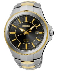 Seiko Men's Solar Coutura Two Tone Stainless Steel Bracelet Watch 43Mm Sne412 No Color