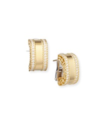 Princess 18K Gold Huggie Earrings With Diamonds Robert Coin