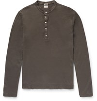 Massimo Alba Hawai Cotton And Cashmere Blend Henley T Shirt Neutrals