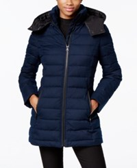 Nautica Hooded Puffer Coat Marine
