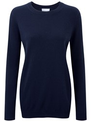 Pure Collection Naomi Cashmere Boyfriend Sweater Navy