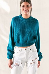 Urban Renewal Remade Cropped Sweater Blue