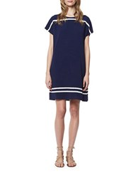 Erin Fetherston Cap Sleeve Shift Dress Navy