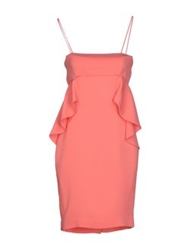 Space Style Concept Short Dresses Pink