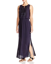 Moon And Meadow Embroidered Placket Maxi Dress
