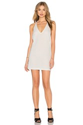 Motel Finn Zig Zag Dress Metallic Silver