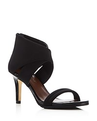 Donald J Pliner Tilly Ankle Wrap Open Toe Sandals Black