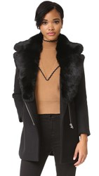 Generation Love Isobal Coat With Fur Collar Black