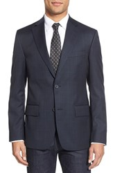 Men's Nordstrom Men's Shop Classic Fit Windowpane Wool Sport Coat