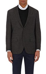 Luciano Barbera Men's Tweed Two Button Sportcoat Brown