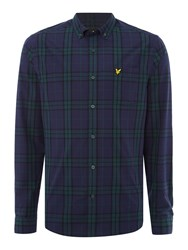 Lyle And Scott Check Long Sleeve Cotton Shirt Navy