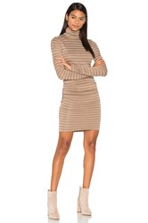 Twenty Luxe Turtleneck Dress Taupe