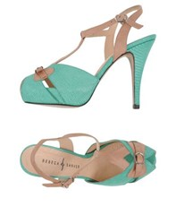 Rebeca Sanver Footwear Sandals Women Light Green