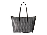 Lacoste L.12.12 Concept Outline Croc Horizontal Tote Black White Tote Handbags