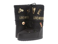 Love Moschino Quilted Moon Boot Black Women's Boots
