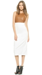 Ad Loose Tank Dress Camel White