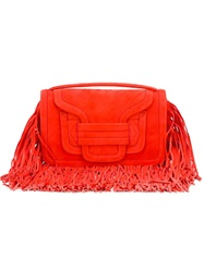 Pierre Hardy 'Alpha' Fringed Clutch Red
