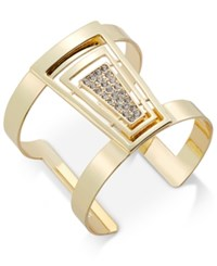 Thalia Sodi Gold Tone Geo Pave Cuff Bracelet Only At Macy's