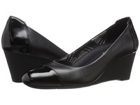 Naturalizer Necile Black Leather Shiny Women's Wedge Shoes