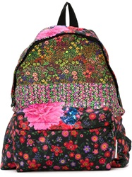 Pierre Louis Mascia Pierre Louis Mascia Mixed Floral Print Backpack Black