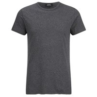 A.P.C. Men's Stitch T Shirt Anthracite Chine Grey