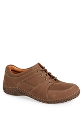 Alegria 'Bartlett' Moc Toe Leather Oxford Men Dark Brown