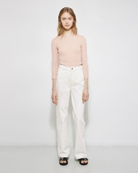 Apiece Apart High Waist Flare Jean White