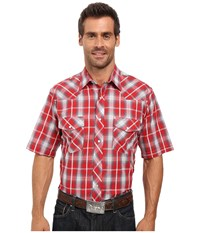 Roper 0297 Red Grey Plaid Red Men's Clothing