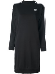 Adidas Originals Three Stripe Sweatshirt Dress Black