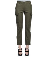 Alexander Mcqueen Stretch Woven Cargo Pants Olive