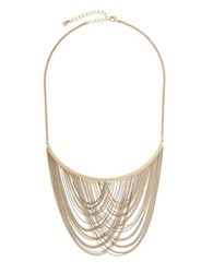 Bcbgmaxazria Chain Fringe Necklace Gold