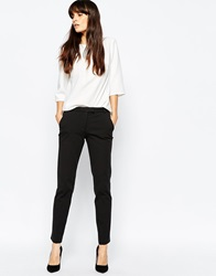 Reiss Crema Skinny Stretch Trousers Black