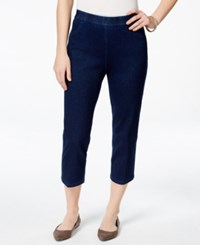 Alfred Dunner Pull On Straight Leg Capri Jeggings Indigo