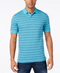 Club Room Big And Tall Men's Stripe Polo Classic Fit Sweetwater