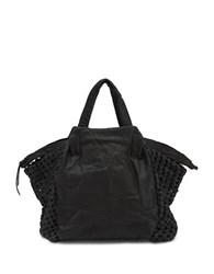 Liebeskind Noda Leather Double Top Handles Bag Black