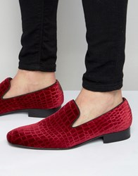 Jeffery West Jung Velvet Loafers Red