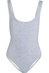 Solid And Striped The Anne Marie Jersey Swimsuit Gray