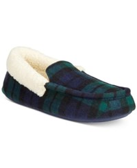 Club Room Men's Slippers Chris Suede Clog Blackwatch