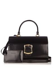 Simone Rocha Oversized Buckle Leather Bag Black