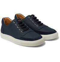 Harry's Of London Mr Jones Leather And Suede Sneakers Navy