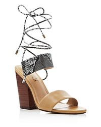 Splendid Kenya Lace Up High Heel Sandals Natural