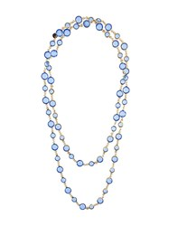 Chanel Vintage Gripoix Sautoir Necklace Blue