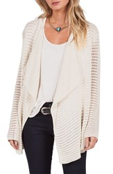 Volcom Women's Hold On Tight Open Cardigan Vintage White