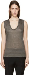 Isabel Marant Grey Linen T Shirt