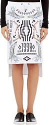 Marcelo Burlon County Of Milan Fleece Milano 1998 Skirt White
