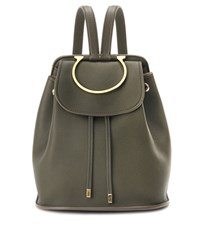 Salvatore Ferragamo Betta Embellished Leather Backpack Green