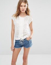 Vero Moda Cap Sleeve Top Snow White