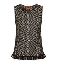 Missoni Fringed Sleeveless Top Female Black