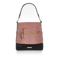 River Island Womens Pink Sporty Zip Slouch Handbag