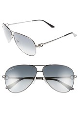 Men's Salvatore Ferragamo 60Mm Aviator Sunglasses Shiny Dark Gunmetal